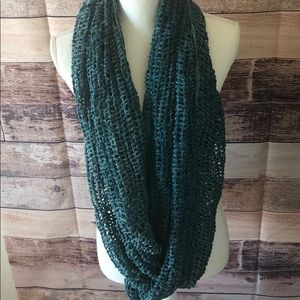 Deep turquoise and white scarf
